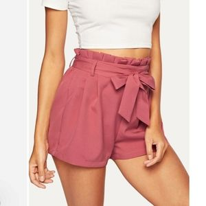 NSR Paperbag Front Tie Bow Shorts